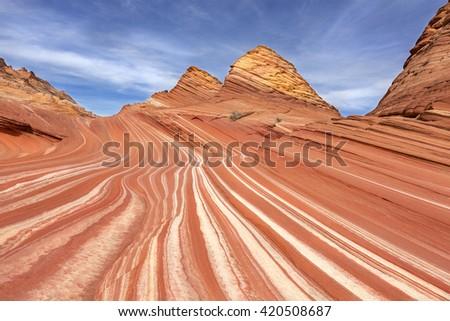 The Wave , Arizona, USA - stock photo
