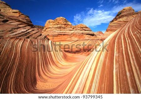 The Wave at Paria Canyon - stock photo