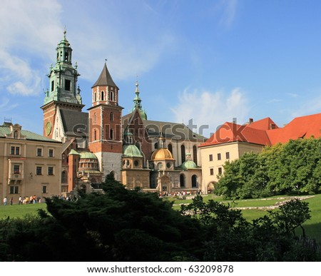 The Wawel Castle in Cracow - stock photo