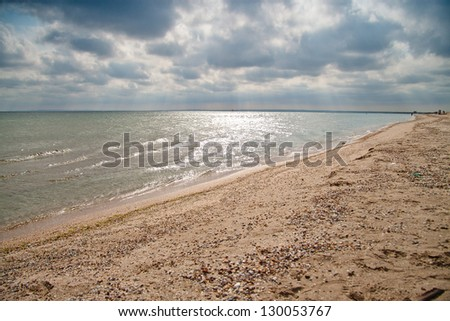 The wawes on the sea - stock photo