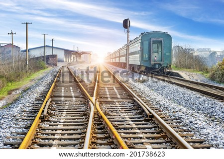 The way forward railway - stock photo