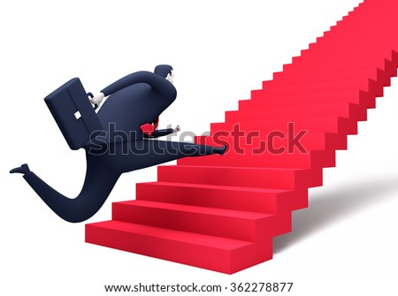 The Way Up. Business illustration - stock photo