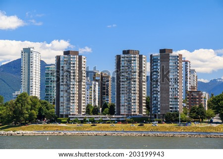 The West End of Vancouver - stock photo