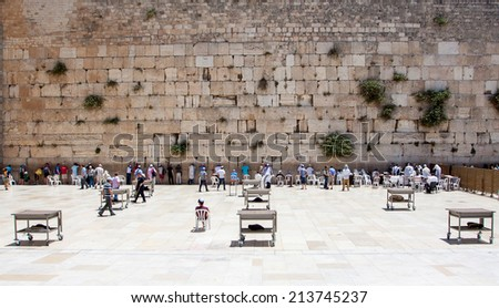 The Western Wall, Jerusalem . Persons is not recognizable - stock photo