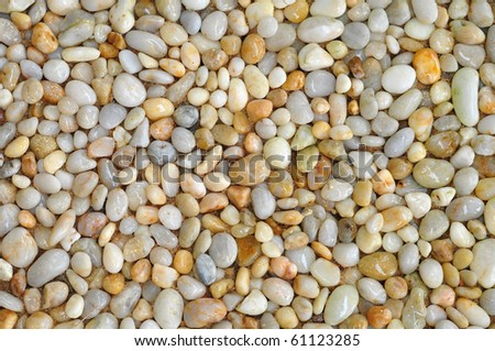 the wet rocks ont the ground after the raining showing the refreshing - stock photo