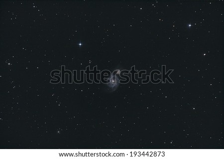The Whirlpool Galaxy, M51 - stock photo