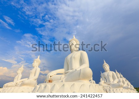 The White buddha - stock photo