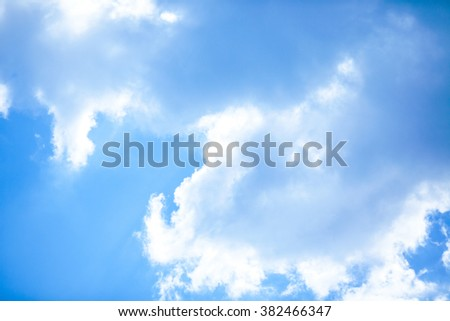 The white cloud in the sky. - stock photo