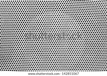 the white grate background with holes - stock photo