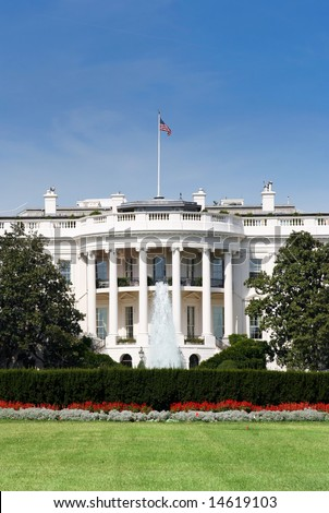 The white house, back view - stock photo