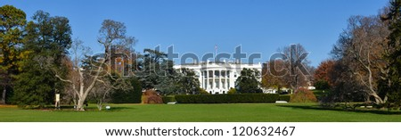 The White House in autumn - Washington DC United States - stock photo