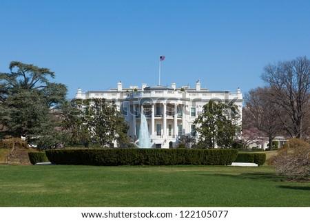 The White House in Washington DC , United States - stock photo