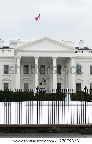 The White House in Winter - stock photo