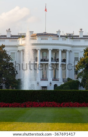 The White House on a beautiful summer evening, Washington, DC. - stock photo