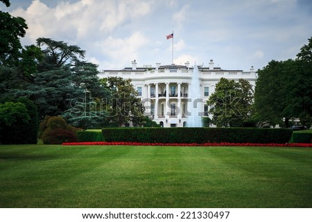 The White House - the official residence and principal workplace of the President of the United States in Washington, DC. - stock photo