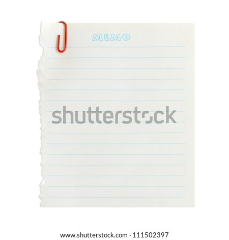The white paper notes isolated on white background - stock photo