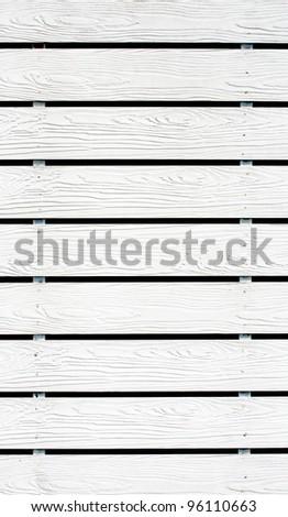The white wood fence background - stock photo