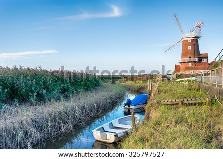 The windmill at Cley in Norfolk - stock photo