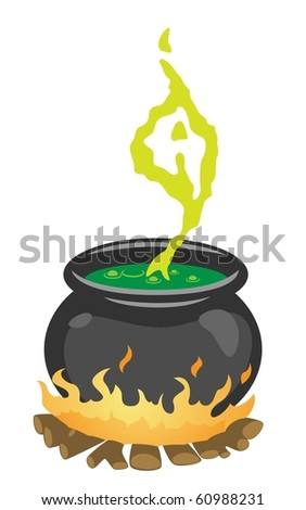 The Witch's Cauldron - stock photo