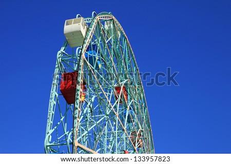The Wonder Wheel in Coney Island, New York City - stock photo