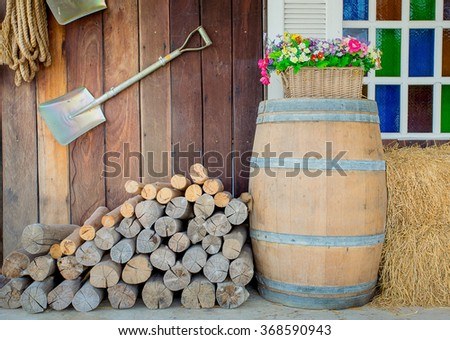 The wood, dry wood - stock photo