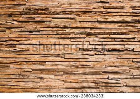 The wood's wall  in Thailand. - stock photo