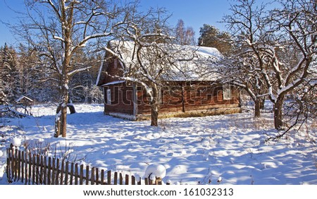 the wooden house   - stock photo
