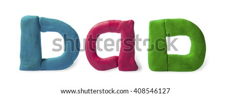 """The word """"Dad"""" from clay - stock photo"""