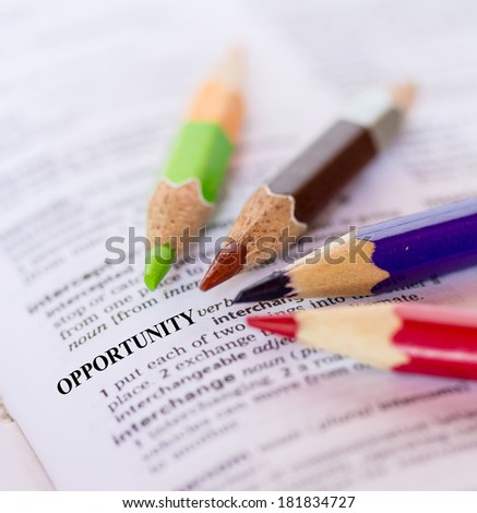 The word OPPORTUNITY - stock photo