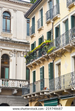The world famous and Unesco heritage island of Venice in the Italian region of Veneto. - stock photo