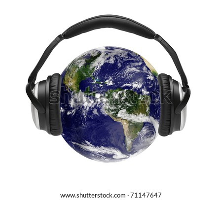 The world is listening - stock photo