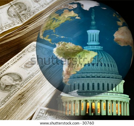 The World - Money & Government - Global Economy - Concept and Symbols