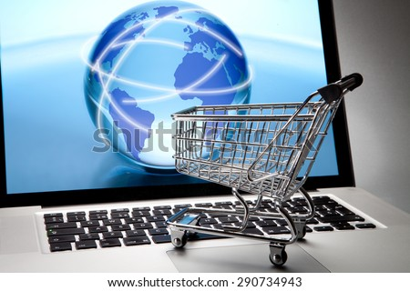 the world of on-line shopping - stock photo