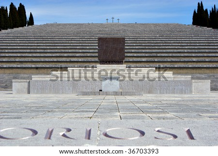 The World War I memorial and cemetery of Redipuglia, Italy - stock photo