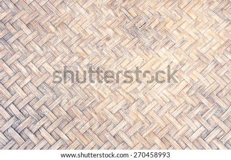The Woven Bamboo is famous handicrafts of the country. Rural people in Thailand  is popular made the industry within the family. - stock photo