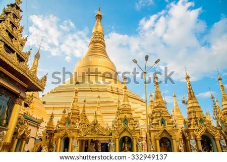 The 2,600 Year-Old Shwedagon Pagoda - stock photo