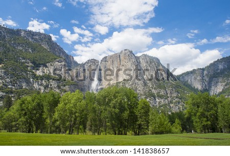 The Yosemite Valley in Yosemite National Park, California - stock photo