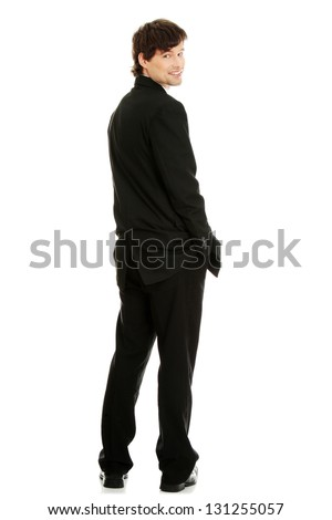 The young sexy man,isolated on white - stock photo