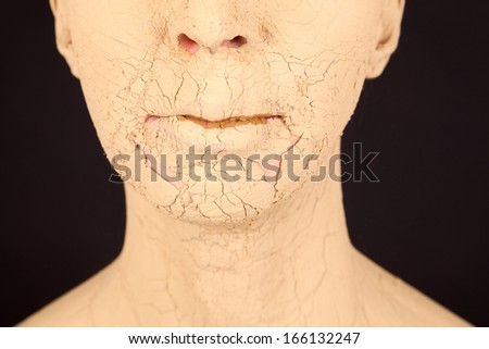 The young woman with the face mask - stock photo