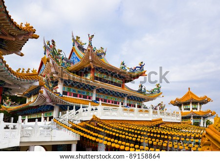 Thean Hou Temple in Kuala Lumpur Malaysia - stock photo