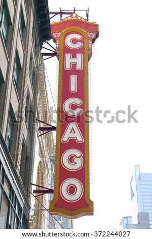 Theater Building in Chicago - stock photo