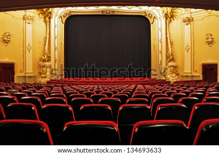 Theater - interior view - stock photo