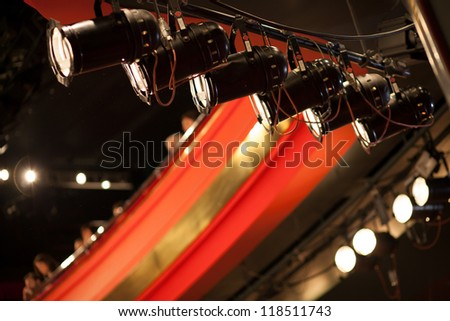theater lights - stock photo