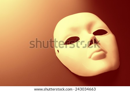 Theater mask - stock photo