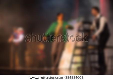 Theater play theme blur background - stock photo