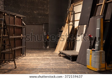 theater storage space - stock photo