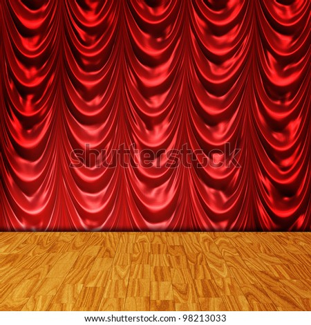 theather stage background - stock photo