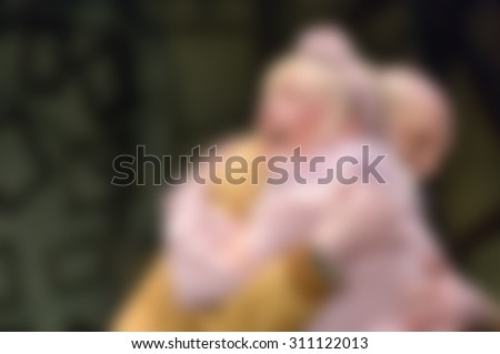 Theatre play theme creative abstract blur background with bokeh effect - stock photo