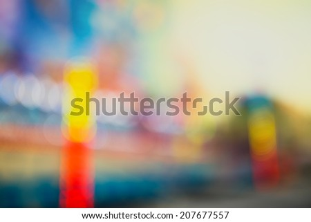 Theme park, defocused photo, abstract background - stock photo