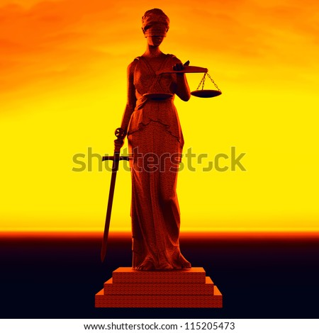 Themis  - law abstract composition - stock photo